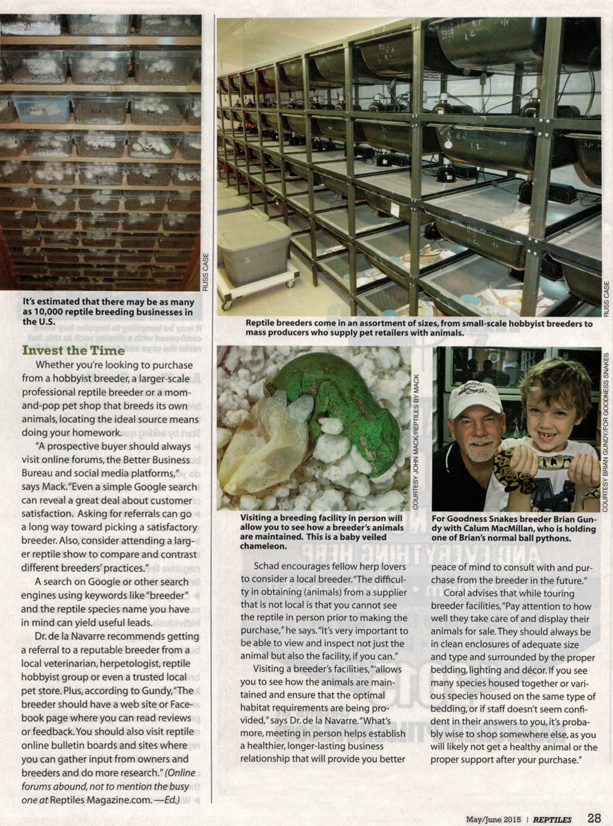 Reptiles Magazine - In breeders we trust - Reptiles by Mack